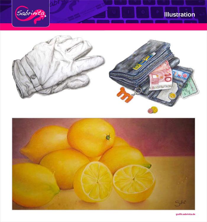 Referenz: Illustration Zeichnungen Bleistift, Polycromos, Pastellkreide