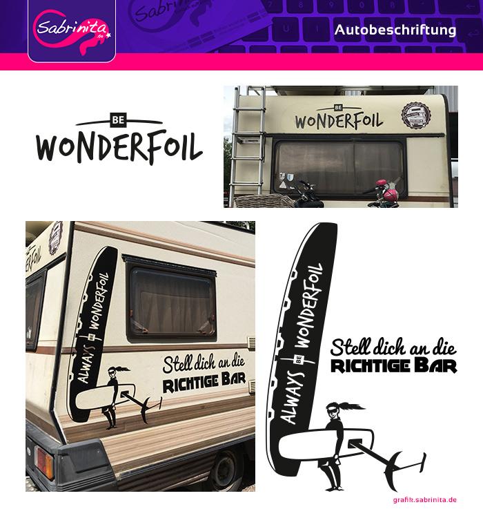 Autobeschriftung Wohnmobil - Kampagne be Wonderfoil - Hinten und Rechts