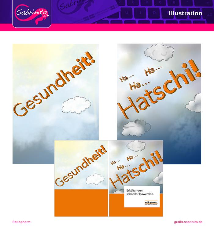 Referenz: Illustration Titel und Rückseite der Ratiopharm Broschüre