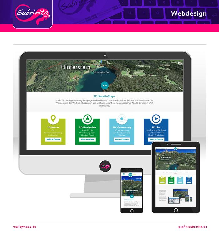 Webdesign 3D realitymaps Startseite
