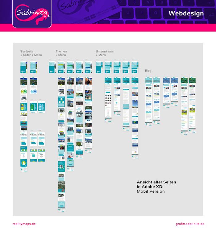 Adobe XD Ansicht: Mobil Webdesign