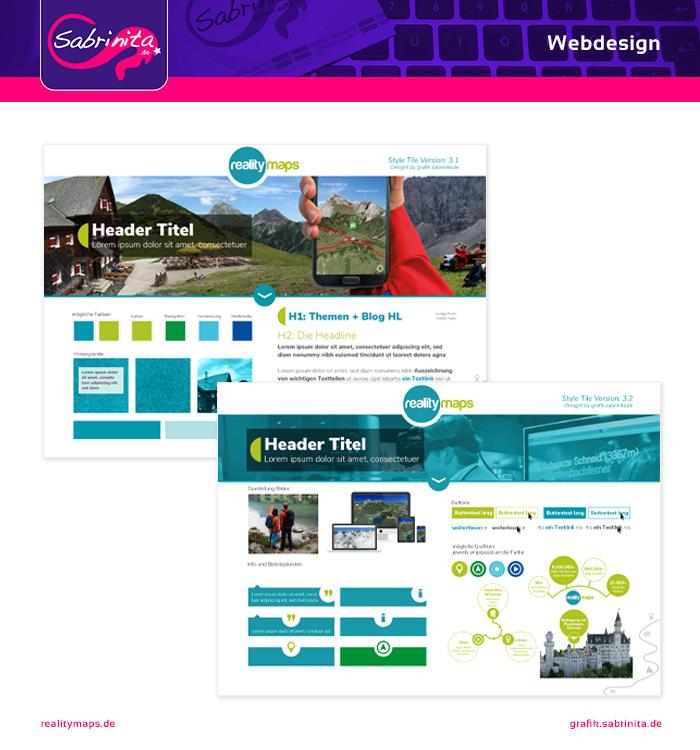 Style Tile für die Website
