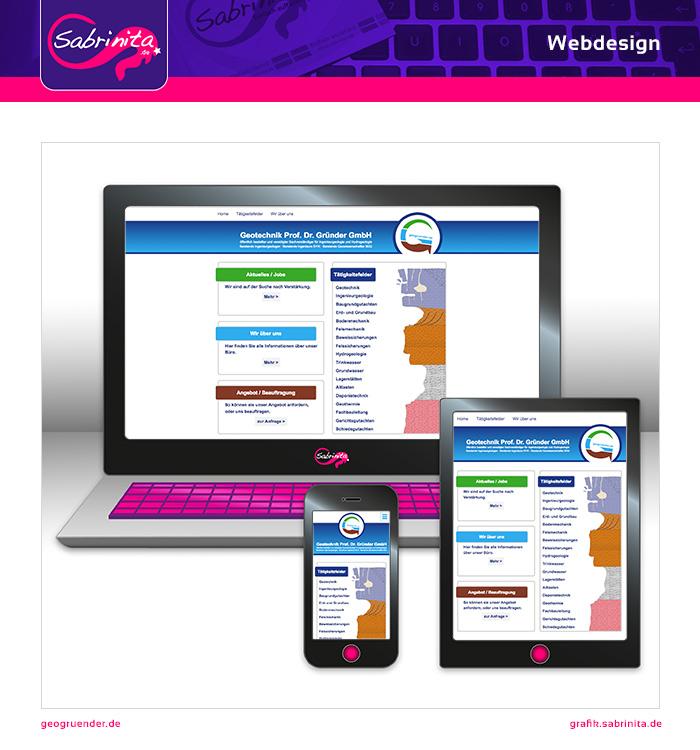 Webdesign - Geo Gründer - Startseite - Responsive