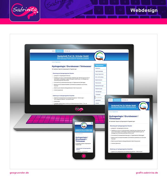 Webdesign - Geo Gründer - Tätigkeitsfelder - Responsive