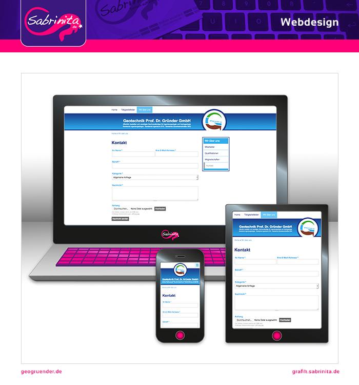 Webdesign - Geo Gründer - Kontakt - Responsive