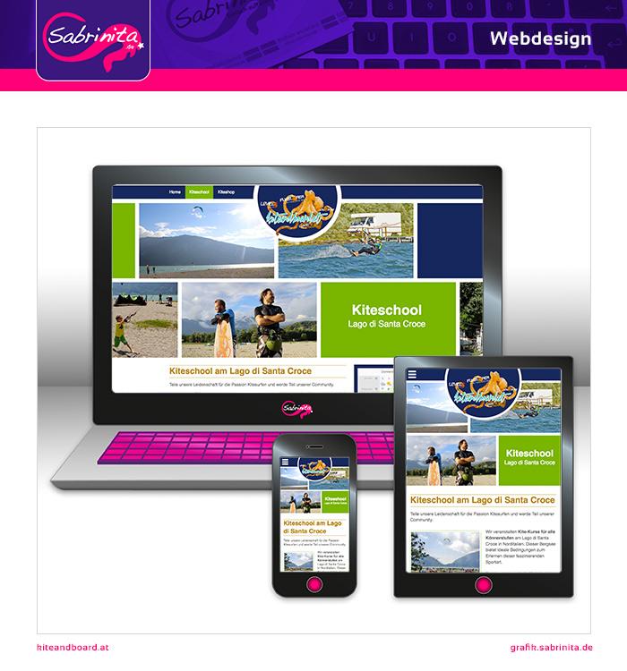 Webdesign - Kite and Board Shop - Kiteschoolseite - Responsive