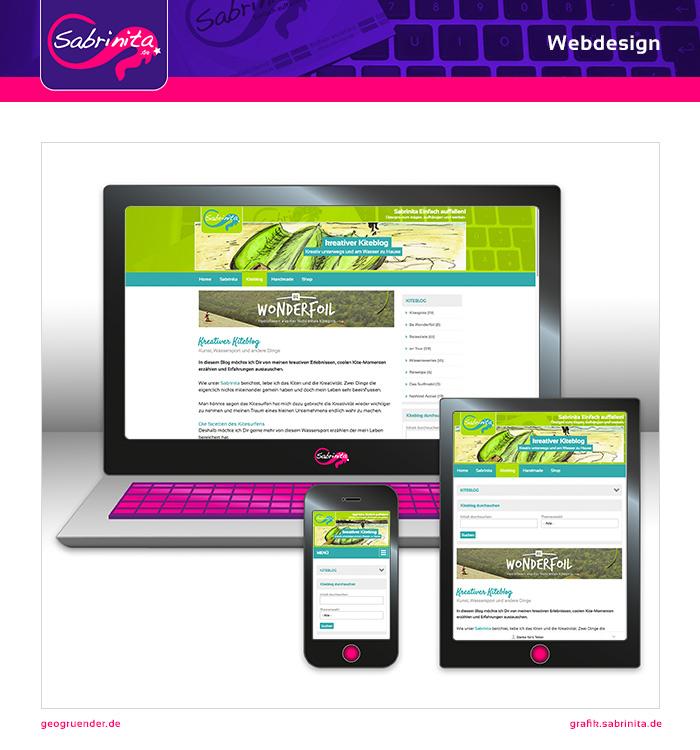Webdesign - kreativer Kiteblog - Kiteblog - Responsive