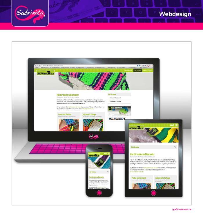 Webdesign - schlamuetz - schlamuetz Anfrage -Responsive