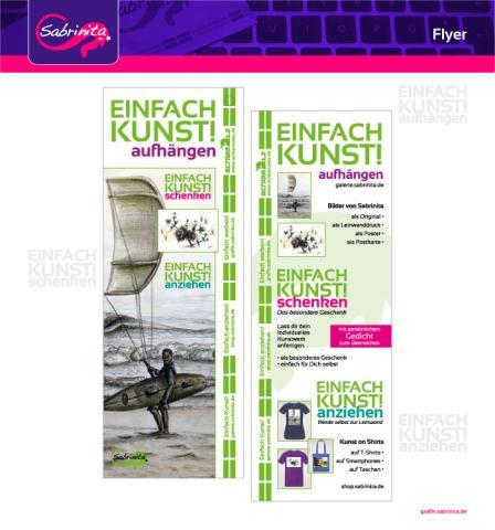 Referenz: Flyer Einfach Kunst!, Druckansicht