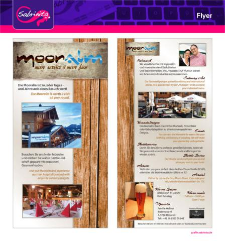 Referenz: Flyer der Mooralm