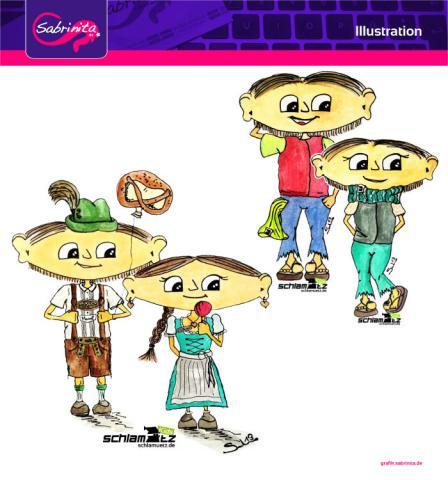 Referenz: Illustration Maxl und Franzi und Maxl und Franzi, auf da Wiesn