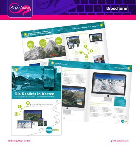 Referenz: Broschüre 3D Realitymaps Titel und zwei Doppelseiten