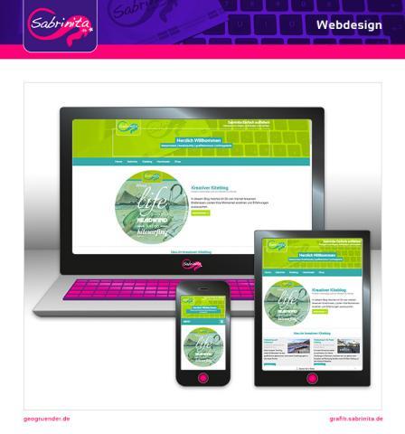 Webdesign - kreativer Kiteblog - Startseite - Responsive